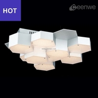 Hot sale porch ceiling light LED 40W Lights Ceiling Lamps iron aluminum acrylic silver Finish