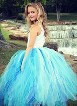 Cinderella Youth - Teen - Long Tutu Skirt - Aqua Blue Tutu - Snow Princess Tutu