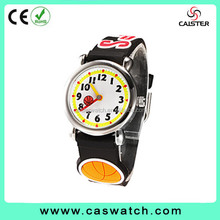 2015 Factory price 3D child cute cartoon watch basketball pattern silicone band best gifts for girls/boys.