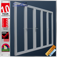 double glazed doors and windows Made in China new products aluminium sliding folding partition doors
