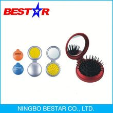 Factory directly Free design plastic mirror with hairbrush