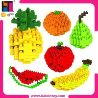 DIY nano blocks fruit set diamond building block educational mini building blocks plastic toy for kids