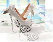 2015 Fashion Bow decoration platform thin High Heel shoes