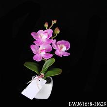 flores artificiales pequeñas orquídeas en maceta