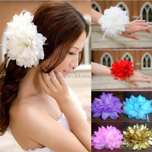 Wholesale Cheap Bridal Big Flower Elastic Hair Band