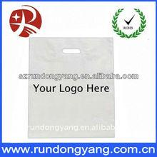 customized logo Die cut shopping plastic bags