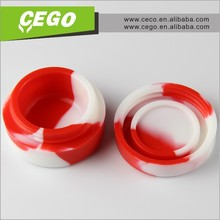 2015 hot sales! Waterproof silicone container with lid best container storage for weed or wax