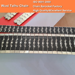 66 S 75 RM 752.64.75 Anti-skidding Stainless Steel Slat Top Conveyor Chain with Rubber Top