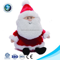 2015 Life size new christmas plush musical santa claus wholesale cute soft stuffed plush christmas santa claus