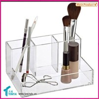 Small Business Ideas Fashion Accessories Holder Acrylic Brush Stand, Plastic Brush Holder Case