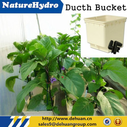Food-grade Dutch Bucket Square White or Black Hydroponic Equipment