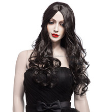 TOP quality 100% Kanekalon fiber half hand tied wig Kinky braided lace front wigs for black women