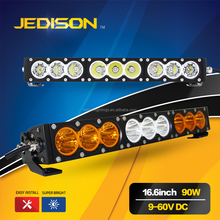 Aluminum Alloy 10V 60V 16.5'' inch 90w led driving light bar for 4X4 Offroad SUV ATV Truck