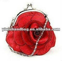 Fashion PU Rose Coin Purse