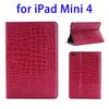 China supplier Crocodile Texture smart cover for ipad mini 4