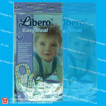 clear plastic food bag/food packaging bag with ziplock
