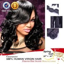 brazilian hair spring curl hair extension humain hair