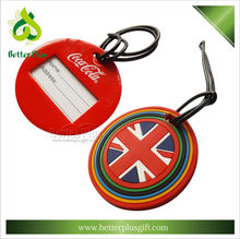 Custom made 3D logo luggage tags for travelling
