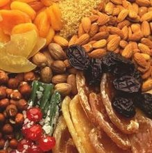 All kind of dried fruit