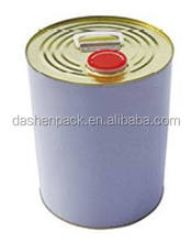 5L gallon round metal chemical paint tin pail with lid and handle tight head 42mm opening