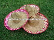 natural de paja de estilo mexicano sombrero