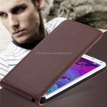 Real Genuine Leather Magnetic Flip Cell Phone Case Cover For Samsung Galaxy Note 4 N9100
