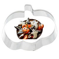 Halloween Home Decor Pumpkin Shaped Chocolate Fondant Cookie Cake Cutter Stainless Steel Kitchen DIY Biscuit Pastry Metal Molds