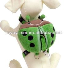 UW-PBP-015 2012 Lovely outdoor style, green beetle shape plush pet travel bag for puppy,dog travel bag