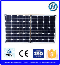 High efficiency 80watt foldable solar panel with competitive price from china manufacturer