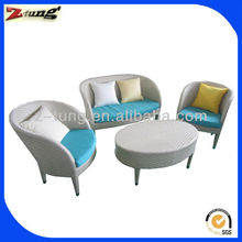 high quality white hotel bistro sofa set ZT-3056S