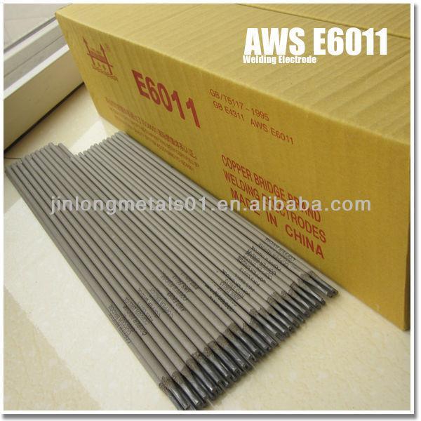Fuente de la fábrica directa 2.5 mm 3.2 mm de oro puente calidad e6013 electrodos de soldadura