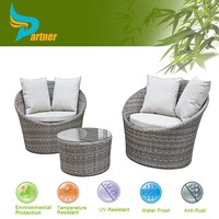 Wicker Outdoor Furniture High Class Rattan Round Chaise Lounge Chair/ Outdoor Plastic Chaise Lounge Chairs