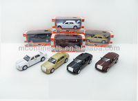 fine pull back alloy model car with IC strip lights 4colors