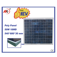 polycrystalline 50w solar module factory price for pakistan market