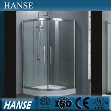 Hs-sr821 esquina interior templado puerta corredera de cristal ware cuarto de baño ducha habitación
