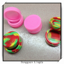 Silicone jars dab wax vaporizer oil container