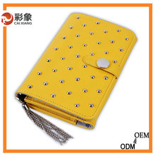 2015 New Design Premium Wallet PU Leather Flip Cover Case for ASUS Zenfone 2