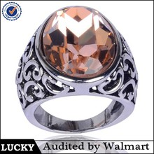 gold big stone ring designs for women made in China