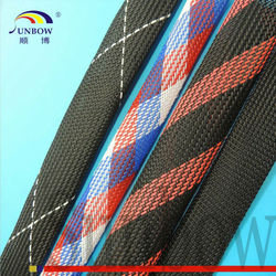 With ISO 9001-2008 Standard Fray Resistance PET Expandable Braided Sleeving
