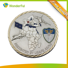 High Quality Imitation Soft Enamel Single Side 3D Challenge Military Eco-Friendly Souvenir Coin