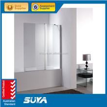 Frameless bath corner square walk in shower room