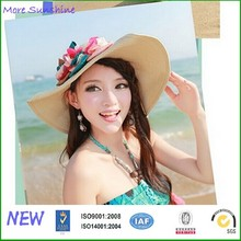 Fashion large floppy brim beach straw hat
