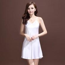 2015 Hot Sale Sexy Women's Condole Belt Nightgown Silk Slip Sleepwear