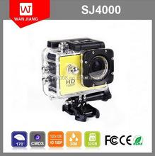 "2015 Hot 1.5"" LCD Full HD 1080P 170 Degree Wide Angle Waterproof WIFI 30M Helmet SJ4000 Sport action Camera"