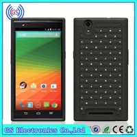 For ZTE Blade Case 2 In 1 Starriness Hybrid PC Silicon Hybrid Mobile Phone Case,Paypal Accepted