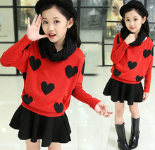 d46898a 2015 cardigan and skirt children girls 2pcs set children clothing cardigan