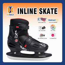 Joybold New Arrival Ice Hockey Skates Shoes, Kids Plastic Heels Shoe Black JB1310 EN7 Approved