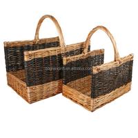 new wicker basket for firewood