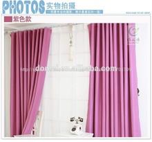 Elegante 100% popular de poliéster cortina de oscurecimiento