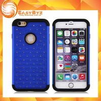 Luxury Bling Diamond Crystal Star Plated Silicone + PC Case For Apple iPhone 6 Plus 5.5""
